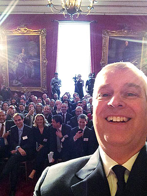 Prince Andrew Takes the First Royal Selfie at Buckingham Palace