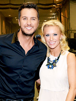 Luke Bryan's Wife Caroline Jokes: I Had to Kiss Him First