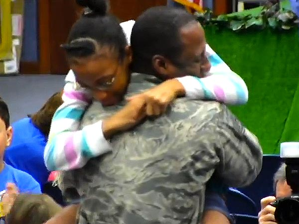 Air Force Sergeant Wil Alteus Surprises His Daughter with His Early Return