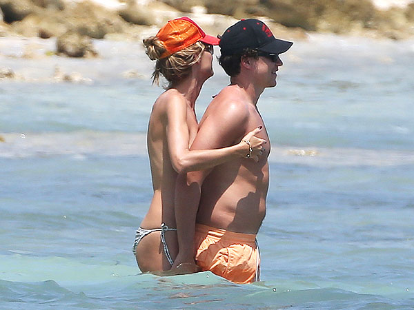 Heidi Klum Goes Topless in Tulum
