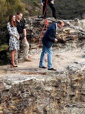 Prince William Goes on the Edge – of a Cliff in Australia!