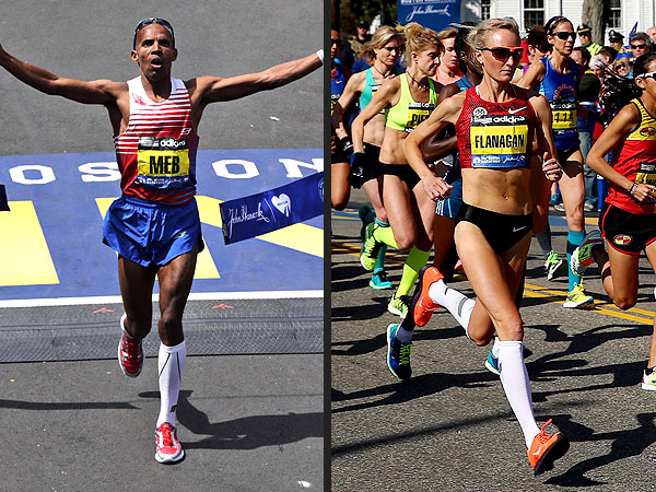 Boston Marathon: American Meb Keflezighi Finishes First