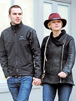 Jennifer Lawrence and Nicholas Hoult Hold Hands in London