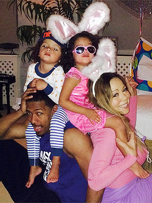 Mariah Carey and Nick Cannon Easter 2014 Family Photo