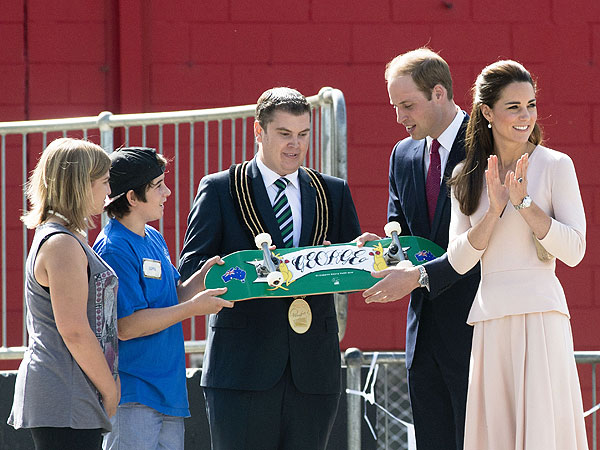 Prince George Receives His Own Skateboard in Australia