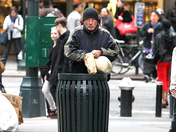 Richard Gere and Kyra Sedgwick Convince New Yorkers They're Homeless