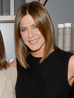 Jennifer Aniston Sports Sleek Brown Bob While Out in Boston