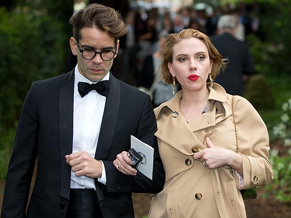 Scarlett Johansson and Romain Dauriac Attend a Wedding in England