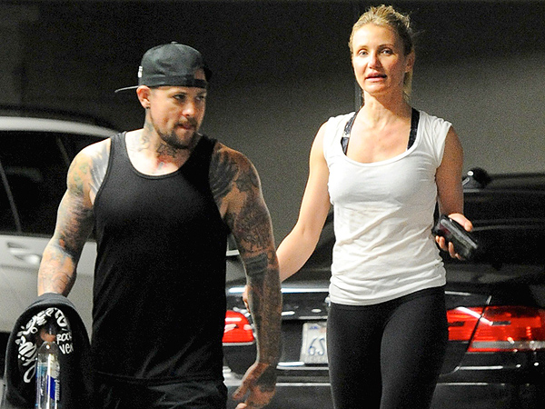 Benji Madden with Wife