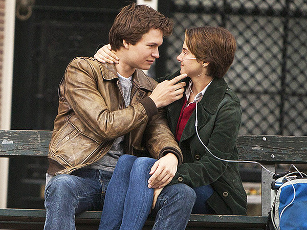 Shailene Woodley Ansel Elgort Fault in Our Stars Amsterdam Bench Missing