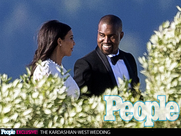 Kanye West Smiles Sweetly at His Bride, Kim Kardashian: Photo