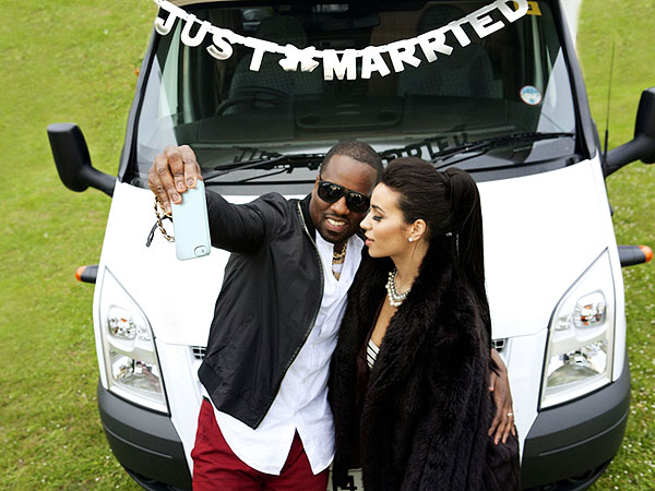 Kim Kardashian and Kanye West Go Camping in Spoof Honeymoon Photos