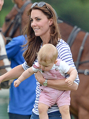 Prince George and Kate Cheer on Prince William During Father's Day Polo Match