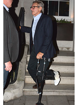 Harrison Ford Using Leg Brace to Recover from Fracture