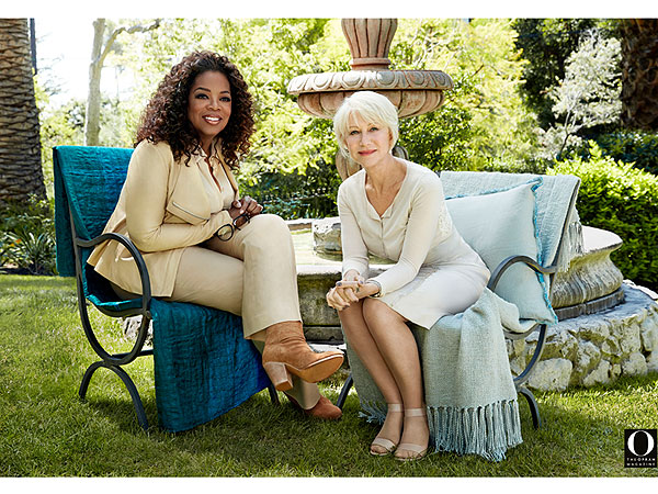 Helen Mirren Talks Queen Elizabeth and Taylor Hackford in O Magazine