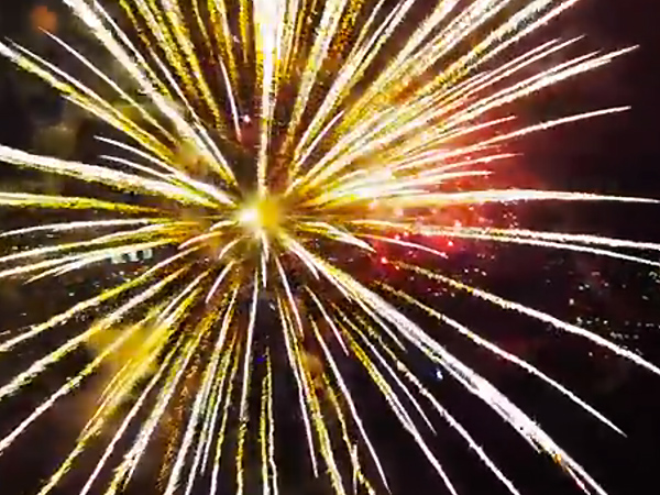 Drone Flies into Fireworks: Video