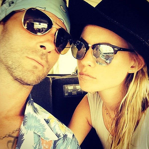 Newlyweds Adam Levine and Behati Prinsloo Take a Honeymoon Selfie