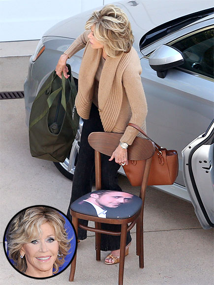 Ryan Gosling Chair: Jane Fonda Snaps Up Furniture with Actor's Face