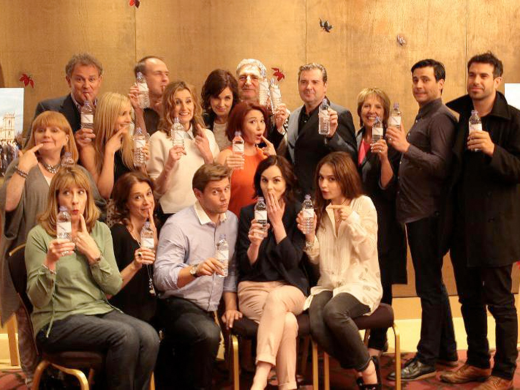 Downton Abbey and a water bottle