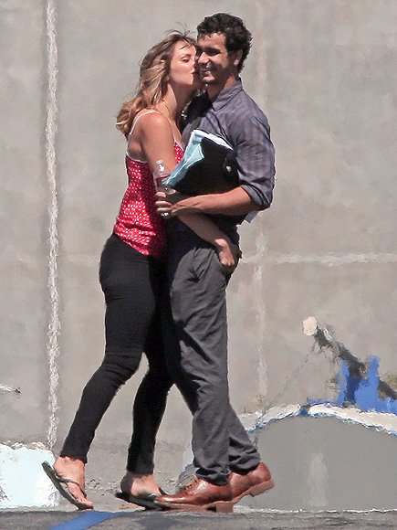 Katharine McPhee Spotted Kissing Costar Elyes Gabel