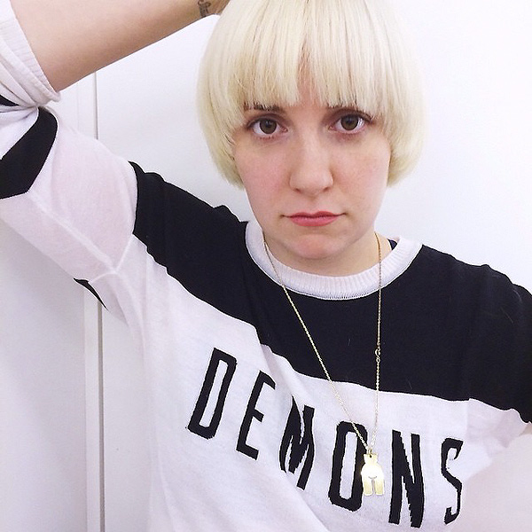 Lena Dunham Goes Platinum Blonde