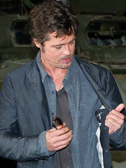 Brad Pitt Wedding Ring Spotted at Fury Photo Call