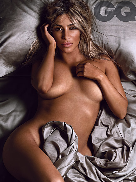 Kim Kardashian Poses Nude for British GQ