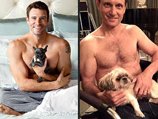 Which Scandal Star Posed Shirtless with a Pup to Mock His Costar?   Scott Foley, Tony Goldwyn