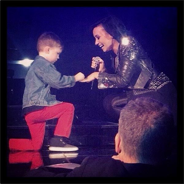 Demi Lovato 'Engaged,' Receives Proposal from Young Boy Onstage at Concert