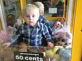 Toddler Rescued After Climbing Inside Claw Toy Vending Machine (VIDEO)