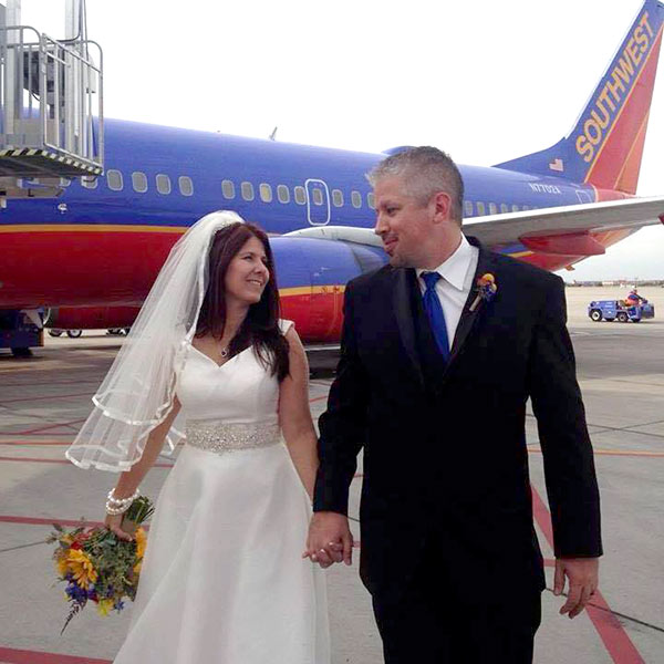 taking wedding dress on airplane
