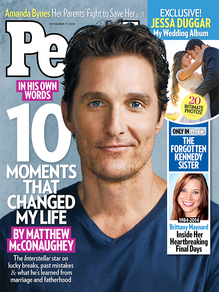 Matthew McConaughey Writes for PEOPLE: 10 Moments That Changed Me