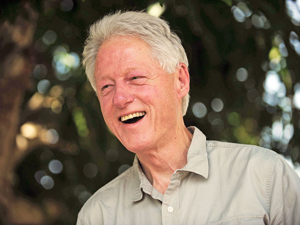 Former President Bill Clinton Shops at Hermes in Paris