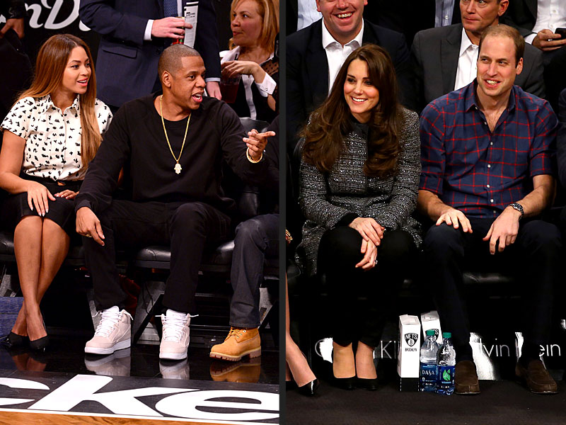 Prince William and Kate Meet Beyoncé and Jay Z at Hoops Game in Brooklyn