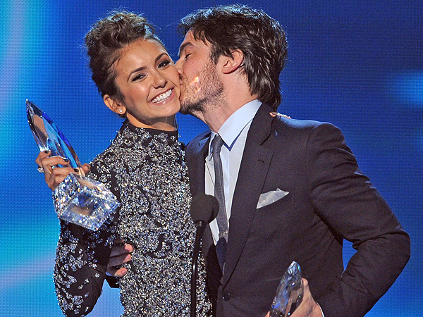 Nina Dobrev and Ian Somerhalder: Celebrity Exes at the People's Choice Awards