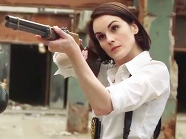 Downton Abbey's Michelle Dockery Stars in Funny Or Die Cop Spoof 'Tough Justice'