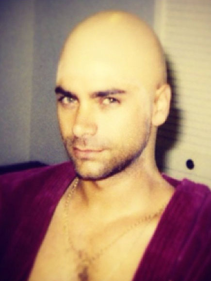 John Stamos Posts Bald Cap Picture to Instagram
