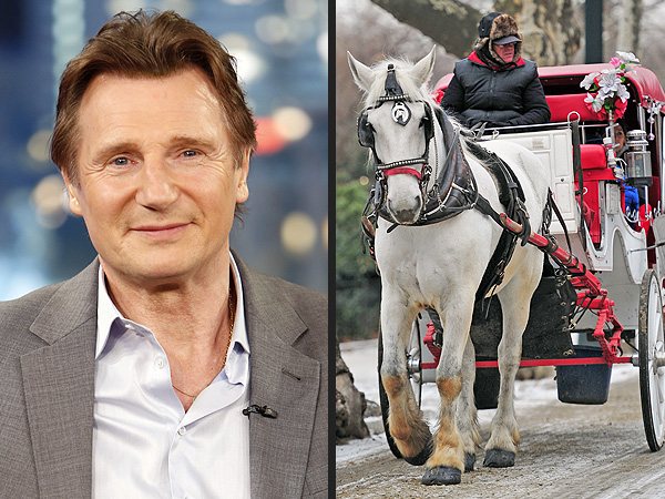 liam neeson 600x450 Liam Neeson Fights to Stop Ban on New York Citys Horse Drawn Carriages
