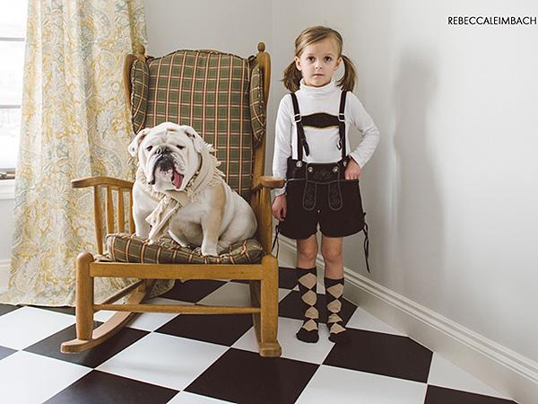 Rebecca Leimbach Photographer: Daughter and Bulldog