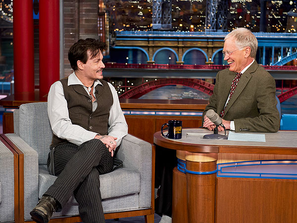 Johnny Depp Talks Engagement Ring on Late Show After Letterman's Retirement Announcement