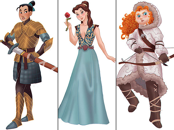 'Game of Thrones' Premiere: See Disney Princesses as the Ladies of Westeros