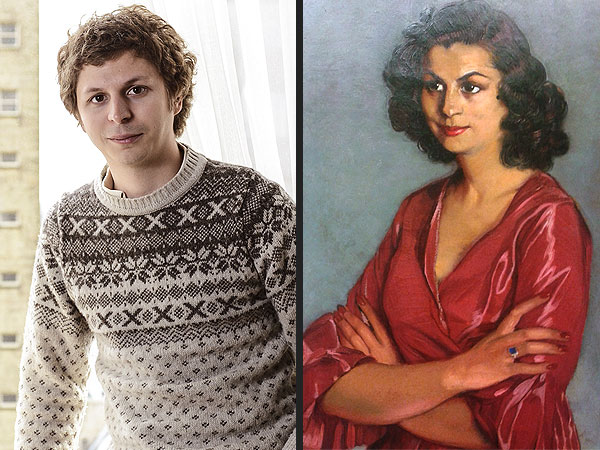 Michael Cera Seen in Painting of Spanish Woman from 1940