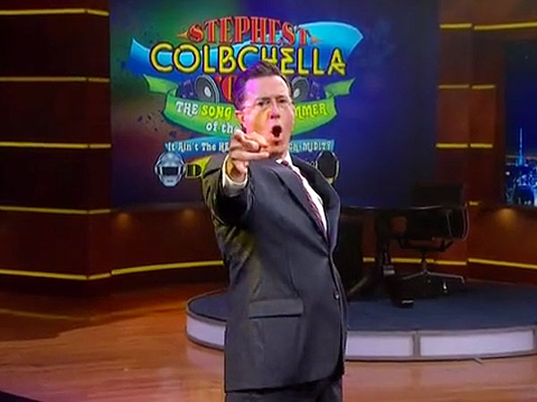 Watch Out, Jimmy Fallon: Stephen Colbert Can Sing (and Dance), Too!
