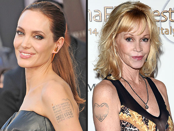 Angelina Jolie, Melanie Griffith and More Stars Who Have Removed Tattoos