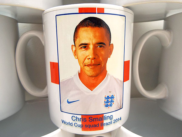 Barack Obama Mistaken for England's Chris Smalling on World Cup Mugs