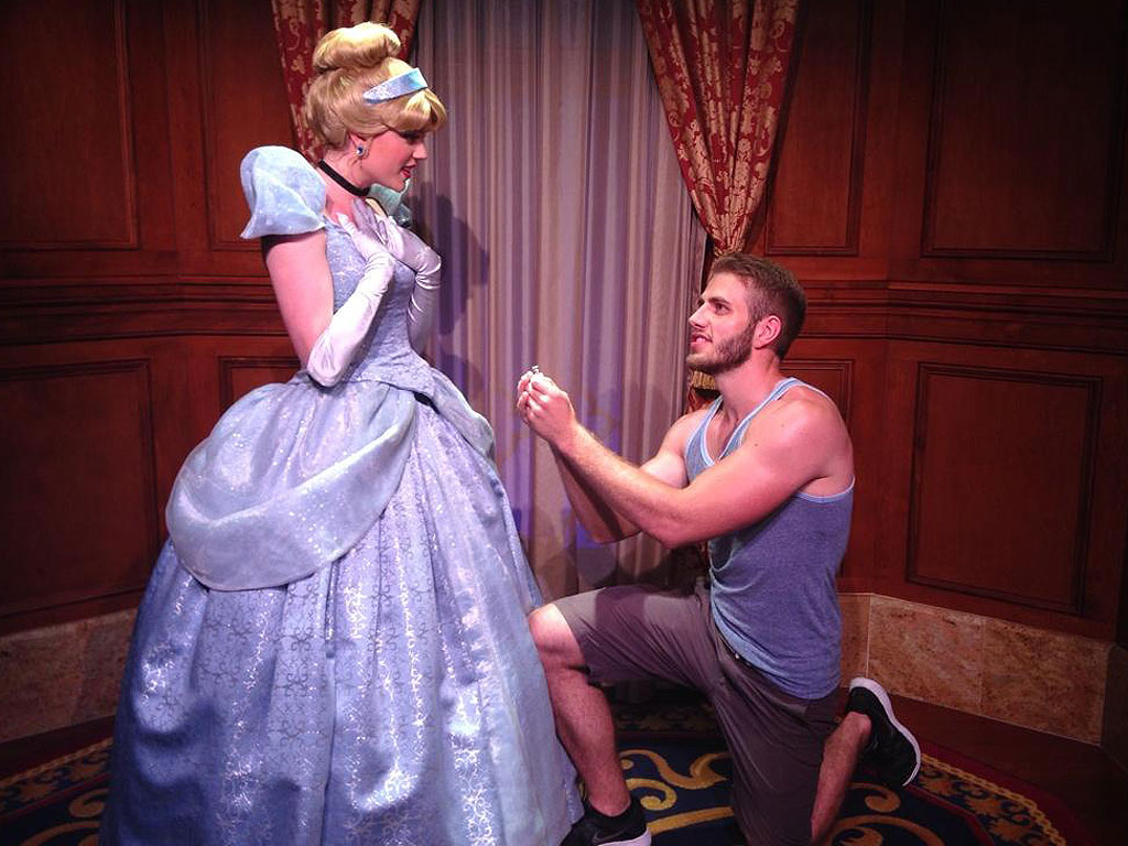 Hopeless Romantic Blaine Gibson Proposes to Disney Princesses