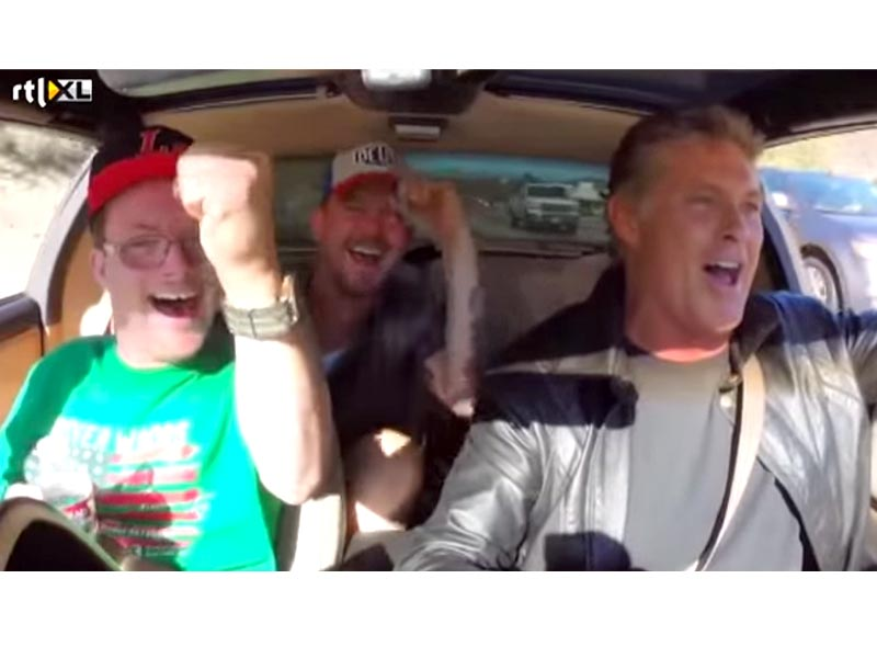 David Hasselhoff Takes Knight Rider Fan with Down Syndrome for a Cruise in KITT