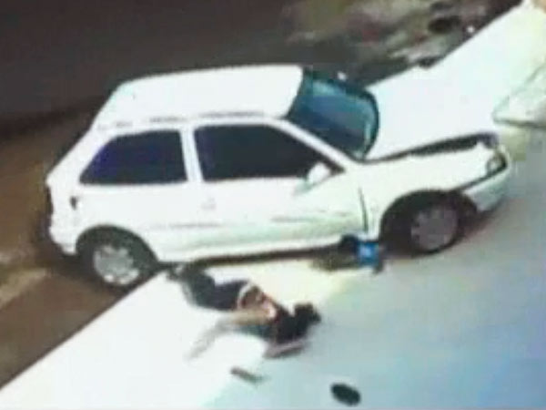 Five Year Old Boy in Brazil Emerges Unharmed From Car Accident