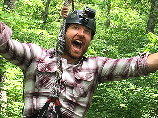 See Brett Eldredge Zip-Lining with Fans: Adrenaline Is the Only Drug I Do! (VIDEO)