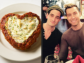 See the Heart-Shaped Lasagna Lance Bass Served at His Wedding